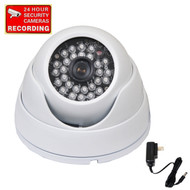 The Infrared High Resolution Dome Camera VD3HWE with Power Supply and Warning Decal