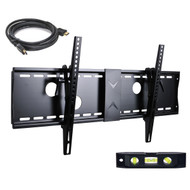 "VideoSecu Tilt Flat Screen TV Wall Mount Bracket for 37"" 40"" 42"" 46"" 47"" 50"" 52"" 55"" 58"" 60"" 62"" 63"" 65"" 70"" 75"" LCD LED Max VESA 700x400mm with 7 Foot HDMI Cable and Bubble Level MN4"