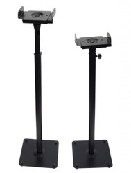 2 Universal Side Clamping Top Plate Speaker Stands Black MS07B
