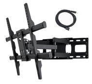 "Full Motion Articulating TV Wall Mount Bracket for Most 37""-75"" TV 125 lbs with VESA 684x400 600x400 400x400 150x100mm, Dual Arm Pulls Out Up to 14"" MW380B5"