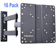 VideoSecu 16 Pack Articulating Arm LCD LED TV Wall Mount Full Motion Tilt Swivel Mount Bracket  16xML510B
