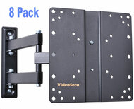 VideoSecu 8 Pack ML510B Articulating Arm LCD LED TV Wall Mount VESA 100 200  8XML510B