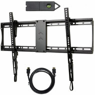 VideoSecu Tilt TV Wall Mount Bracket Kit with Magnetic Stud Finder and HDMI Cable for Most 23-85 Inch TVs LCD OLED with VESA 700X400, Smooth Tilting  MF609B WT9