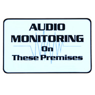 Security Audio Warning Sticker S012