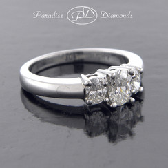 Style PDX520 Classic Three-Stone Diamond Engagement Ring in Platinum