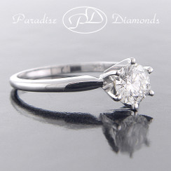 Style PDSoli - 0.73ct. Round Brilliant cut Solitaire Engagement Ring, 14K White Gold