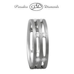 Style PDWB5327 White Gold With 0.48CT Diamond Wedding Band