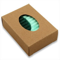 Buy Kraft Soap Boxes with Oval Window