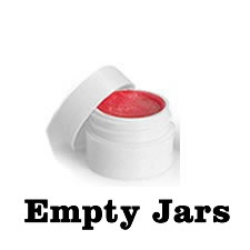 Empty White Lip Balm Jars