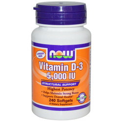 Vitamin D3 5000 IU (240 Soft Gels)