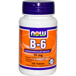 Vitamin B-6 50 mg (100 Tablets)