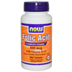 FOLIC ACID 800mcg (250 TABS)