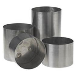 "4"" wide x 4.5"" tall - Round Aluminum Pillar Candle Mold (am-9)"