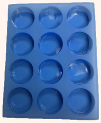 Silicone Round Soap Mold (12 Cavity)