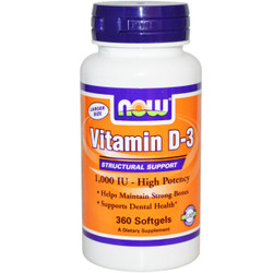 Vitamin D-3 1000  IU - 360 Soft Gels