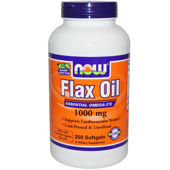 Organic Flax Oil 1000 mg - 250 Soft Gels
