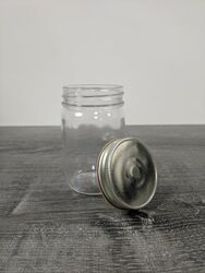 12 oz Mason Jars with Cap - Case of 12