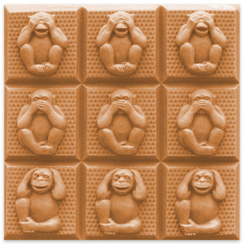 Tray-3 Wise Monkeys Soap Mold