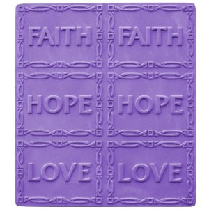 Faith-Hope-Love Tray Soap Mold