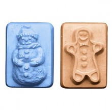 Guest Snowman and Gingerbread Soap Mold