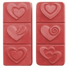 Breakaway Hearts Soap Mold