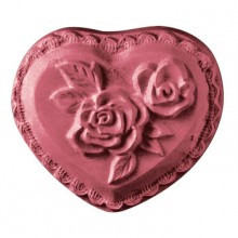 Heart With Rose Soap Mold