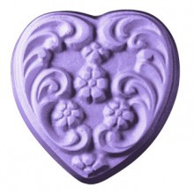 Floral Heart Soap Mold