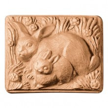 2 Rabbits Soap Mold