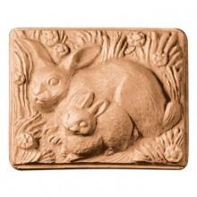 2 Rabbits Soap Mold