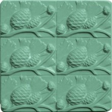 Pinecones Tray Soap Mold