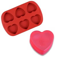 Silicone Heart Soap Mold
