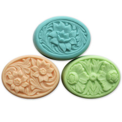 Floral Ovals Soap Mold