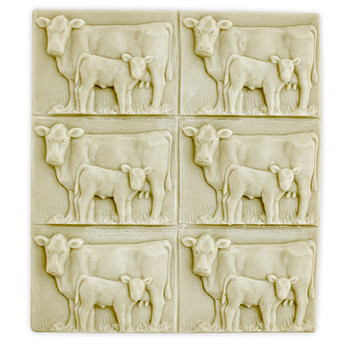 Tray-Cow and Calf Soap Mold