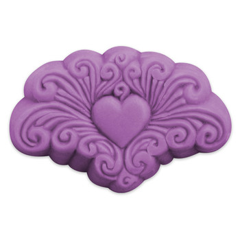 Guest Arabesque Heart Soap Mold