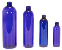 Buy Plastic Cobalt Blue Bullet Bottles