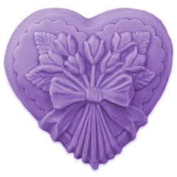 Heart with Tulips Soap Mold