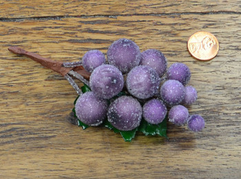 Beaded Grape Cluster - Purple w/ Clear Beads