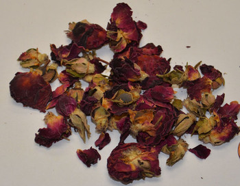 Rose Buds & Petals - Red