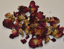Rose Buds & Petals - Red