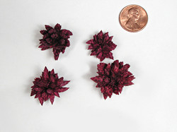 Star Flowers - burgundy