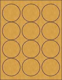 2.5 Circle Brown Kraft Labels