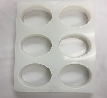 Silicone 6 Bar Oval soap mold overview