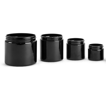 Black Plastic Jars