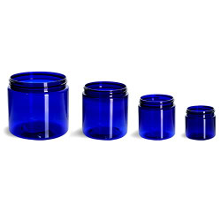 Blue Plastic Jars
