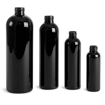 Buy Black Cosmo Round Bullet Bottles Bulk Apothecary