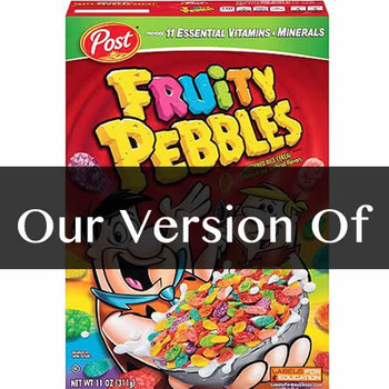Pure Fruity Pebbles Flavor Sizes