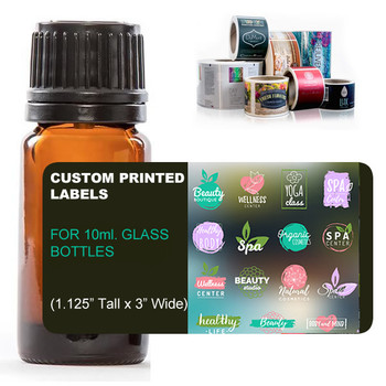 CUSTOM DIGITAL LABELS FOR 10ML GLASS BOTTLES