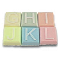 Alphabet Block Soap Mold - G to L