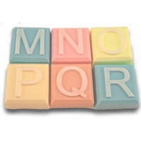 Alphabet Block Soap Mold - M to R