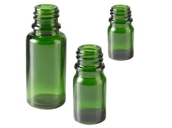 Green Glass Essential Oil Bottles